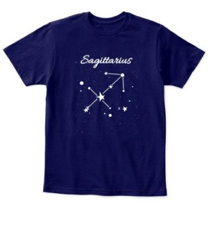 Constellation-Sagittarius Tshirt, Kid's Unisex Round Neck T-shirt