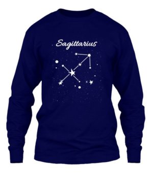 Constellation-Sagittarius Tshirt, Men's Long Sleeves T-shirt