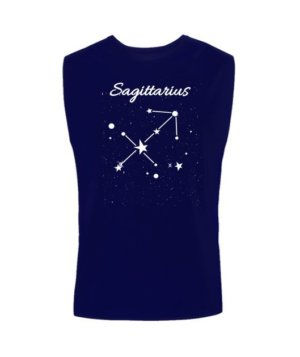 Constellation-Sagittarius Tshirt, Men's Sleeveless T-shirt