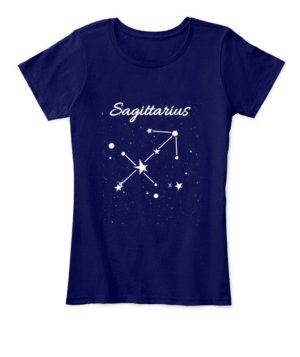 Constellation-Sagittarius Tshirt, Women's Round Neck T-shirt