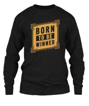 Born to be winner, Men's Long Sleeves T-shirt