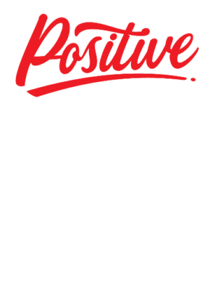 Think Positive Be Positive, Men's Round T-shirt