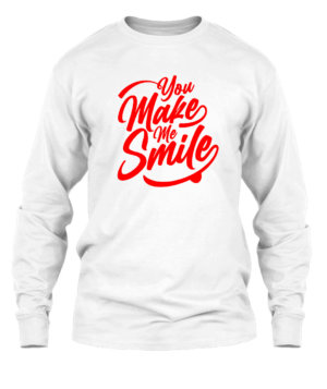 You make me smile, Men's Long Sleeves T-shirt