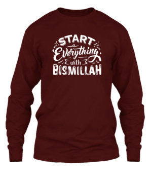 Start everything with bismillah, Men's Long Sleeves T-shirt