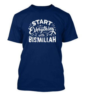 Start everything with bismillah, Men's Round T-shirt