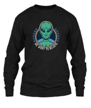 We want to believe, Men's Long Sleeves T-shirt