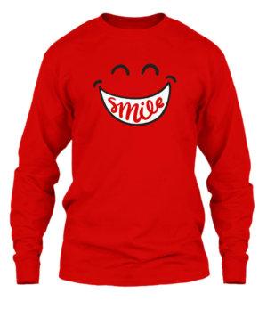 Smile, Men's Long Sleeves T-shirt