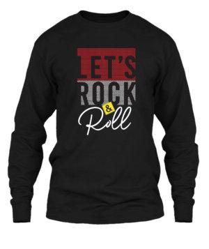Lets Rock n Roll, Men's Long Sleeves T-shirt