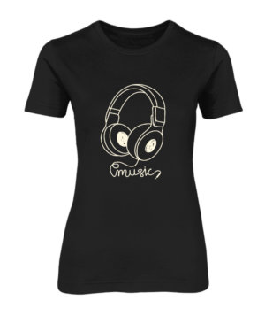 Headphone, Women's Round Neck T-shirt