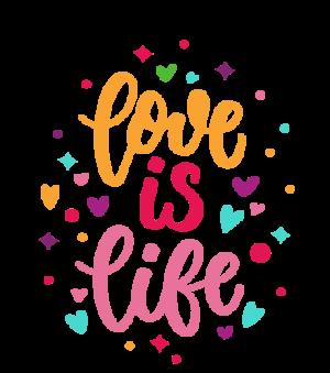 Love is life, Women's Hoodies