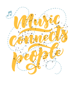 Music Connects People, Men's Round T-shirt