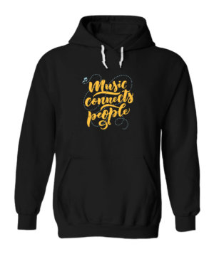 Music Connects People, Men's Hoodies
