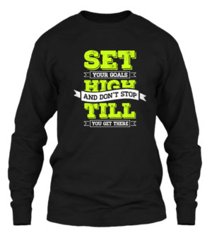 Set your goal's high, Men's Long Sleeves T-shirt