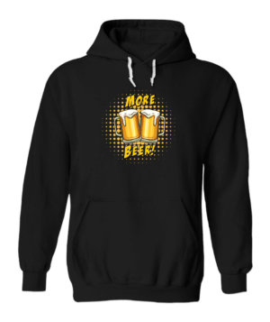 MORE BEER, Men's Hoodies