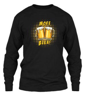 MORE BEER, Men's Long Sleeves T-shirt