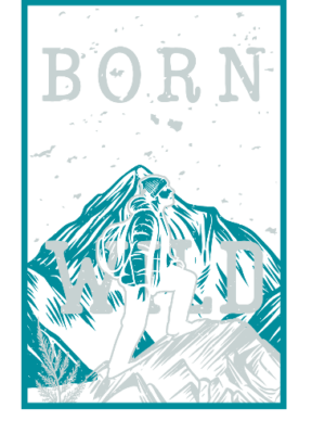 Born Wild, Women's Round Neck T-shirt