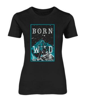 Born Wild, Women's Round Neck T-shirt