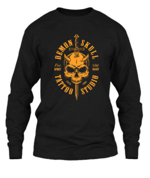 Demon Skull, Men's Long Sleeves T-shirt