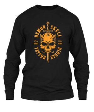 Demon Skull, Men's Long Sleeves T-shirt