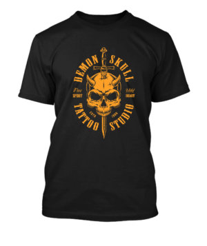 Demon Skull, Men's Round T-shirt