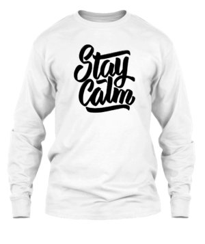 Stay Calm, Men's Long Sleeves T-shirt