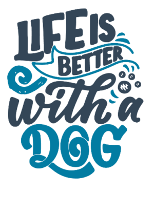 Life is better with a dog, Men's Round T-shirt