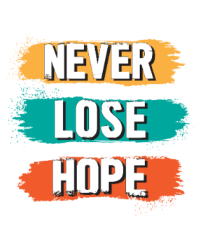 Never Lose Hope, Men's Round T-shirt