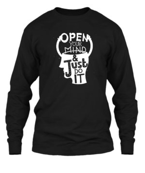 Open your mind, Men's Long Sleeves T-shirt