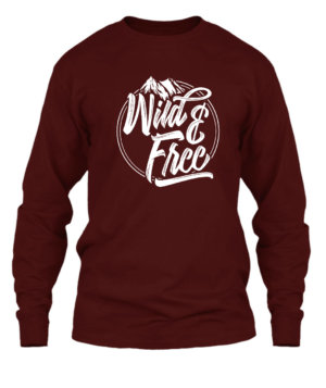 Wild and Free, Men's Long Sleeves T-shirt