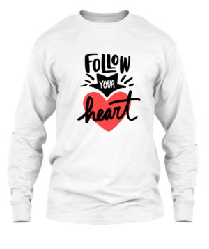 Follow your heart, Men's Long Sleeves T-shirt