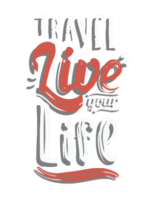 Travel and live your life, Men's Round T-shirt