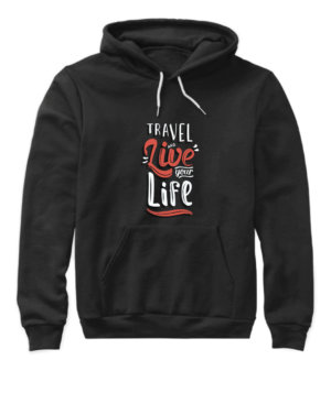 Travel and live your life, Women's Hoodies