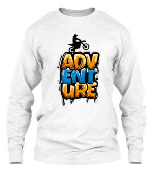 Bike Adventure, Men's Long Sleeves T-shirt