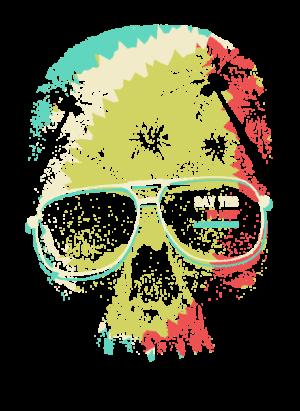 Skull Graphic, Men's Long Sleeves T-shirt