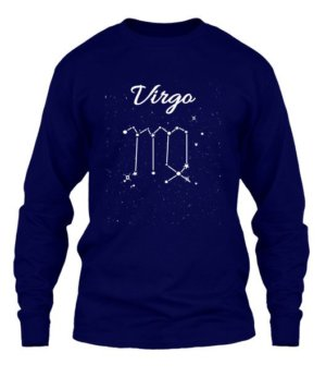 Constellation-Virgo Tshirt, Men's Long Sleeves T-shirt