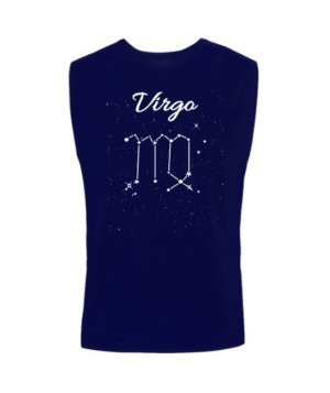 Constellation-Virgo Tshirt, Men's Sleeveless T-shirt