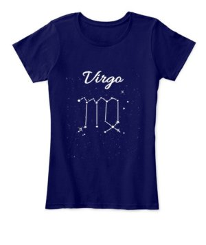 Constellation-Virgo Tshirt, Women's Round Neck T-shirt
