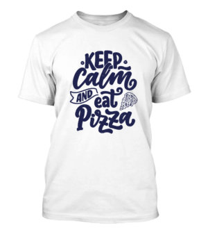 Keep Calm and eat pizza, Men's Round T-shirt