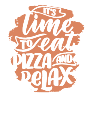 Eat Pizza and Relax, Men's Round T-shirt