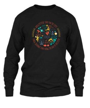 Yoga Design, Men's Long Sleeves T-shirt