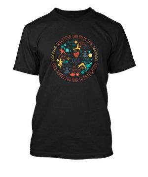 Yoga Design, Men's Round T-shirt