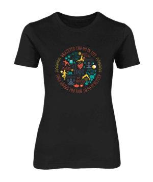 Yoga Design, Women's Round Neck T-shirt