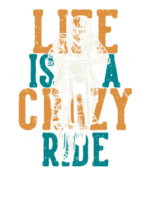 Life is a crazy ride, Men's Round T-shirt