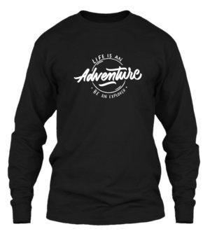 Life is an adventure, Men's Long Sleeves T-shirt