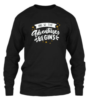 Adventure Begins, Men's Long Sleeves T-shirt