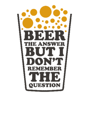Beer is the answer, Men's Round T-shirt
