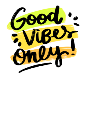Good Vibes Only, Men's Polo Neck T-shirt