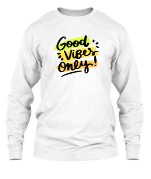 Good Vibes Only, Men's Long Sleeves T-shirt