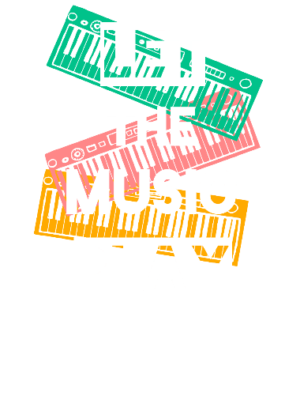 Let the music play, Men's Round T-shirt