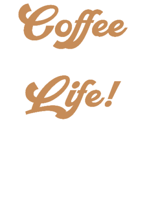 Coffee for life, Men's Round T-shirt